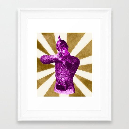 Pink Soldier Framed Art Print