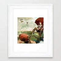 Framed Art Print featuring CLOUDWALKERS TWO by Stephan Parylak