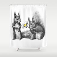 Squirrels - love gift G128 Shower Curtain