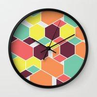 Hex P II Wall Clock