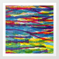 stripes traffic Art Print