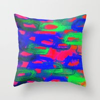 NIGHT LIFE - Bold Neon A… Throw Pillow