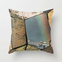 Hole In The Rainbow Throw Pillow