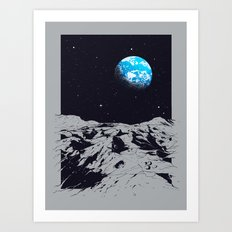 From the Moon Art Print