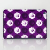 Sunflower black, white and purple iPad Case