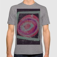 Abstract Green Pink Mens Fitted Tee Athletic Grey SMALL