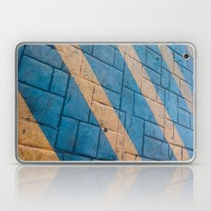 Yellow Lines at the ground Laptop & iPad Skin