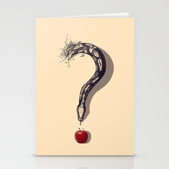 Curious Temptation Stationery Card