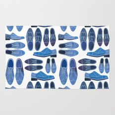 Blue Brogue Shoes Rug