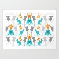 Koal-roo-gum Art Print