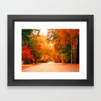 Autumn in the South Framed Art Print