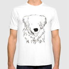 dog SMALL White Mens Fitted Tee