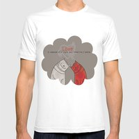 LOVE is a single soul in two bodies Mens Fitted Tee White SMALL