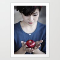 Apple, My Sweet? (Snow W… Art Print
