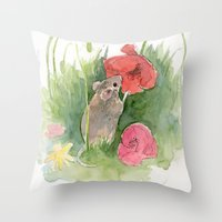 Fieldmouse Throw Pillow