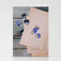 She Filled the Pages of Her Life With Happiness and Flowers Stationery Cards