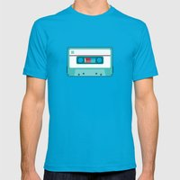 #54 Cassette Mens Fitted Tee Teal SMALL