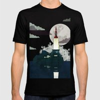 Tracy Island Mens Fitted Tee Black SMALL