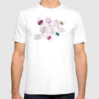 Busy Bees Mens Fitted Tee White SMALL