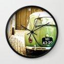 Mrs Olive Green Wall Clock