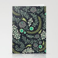 Winter's Eve Floral Stationery Cards