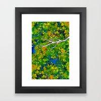 Bird Out The Bush Framed Art Print