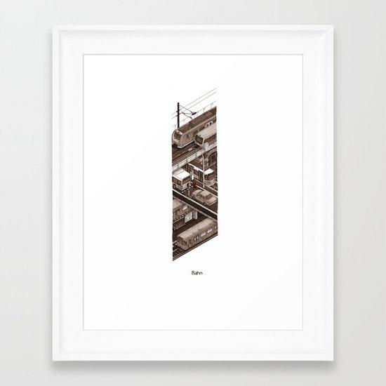 Bahn Framed Art Print