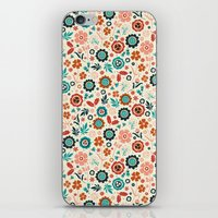 Folk Flowers iPhone & iPod Skin
