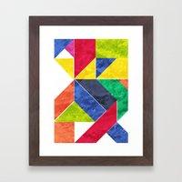 GeoAfricanHeat Framed Art Print