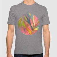 Happy Ferns Mens Fitted Tee Tri-Grey SMALL