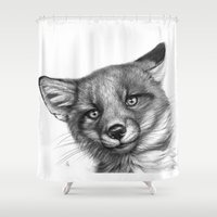 Fox Cub G139 Shower Curtain