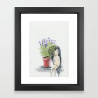 Listening To The Lavende… Framed Art Print