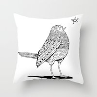 Thursday bird Throw Pillow