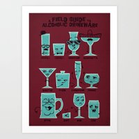 Field Guide to Alcoholic Drinkware Art Print