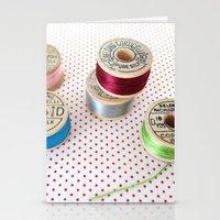 Silk Thread Spools Stationery Cards