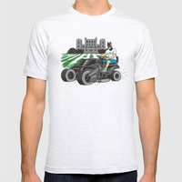 The Bat-mow-bile Mens Fitted Tee Ash Grey SMALL