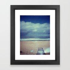 Tura Beach Polaroid Framed Art Print