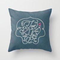 i love you Throw Pillow