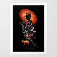 Geisha Nature Art Print