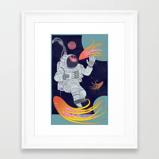 Cosmonaut Framed Art Print