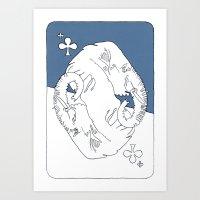 Elephant Card Art Print