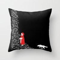 Little Red - Dark Throw Pillow