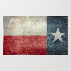Texas state flag, Vertical retro vintage version Rug