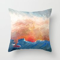 Sunset Impressionist  Throw Pillow
