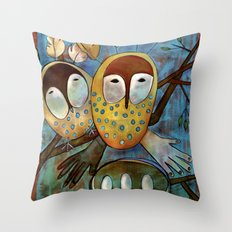 Oracle Owls Throw Pillow