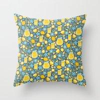 Evening Glass of Lemonade Throw Pillow