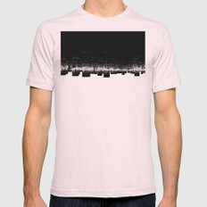 abstract city Mens Fitted Tee Light Pink SMALL