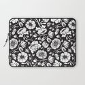 Black Russian Floral Laptop Sleeve