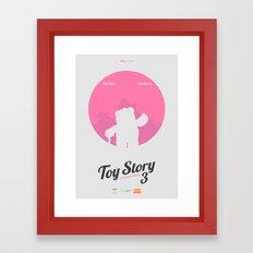 Toy Story 3 - minimal poster Framed Art Print