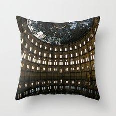An abandoned beauty Throw Pillow